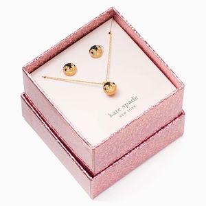 NWT Kate Spade Penguin Necklace & Earring Box Set